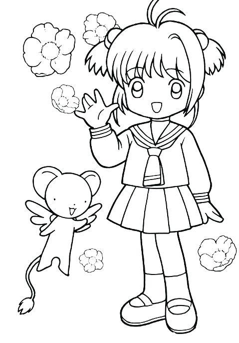 479x686 Cardcaptor Sakura Colouring Pages Op Kids N Fun Coloring