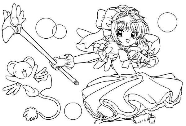 600x407 Cardcaptor Sakura Movie Picture Coloring Page Cardcaptor Sakura
