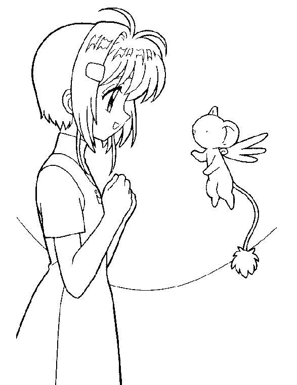 587x759 Cardcaptor Sakura Coloring Pages Coloringguru