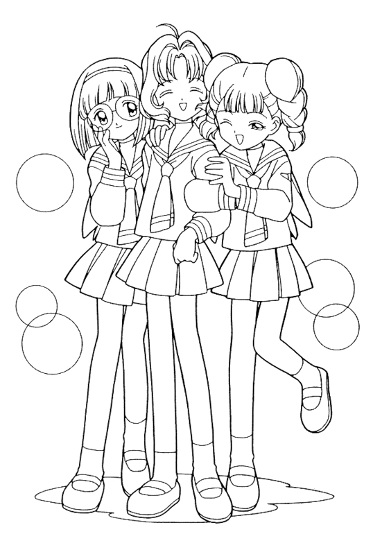 538x793 Cardcaptor Coloring Pages