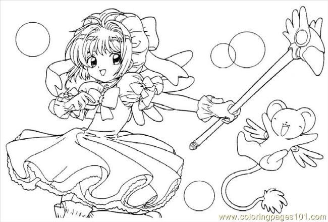 650x440 Cardcaptors Sakura Coloring Page