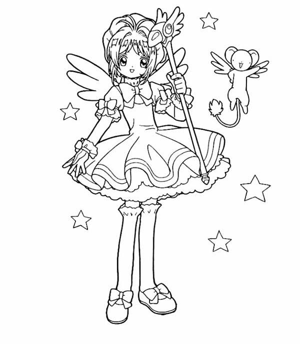 600x686 Dancing Cardcaptor Sakura Coloring Pages Coloring Pages Kids