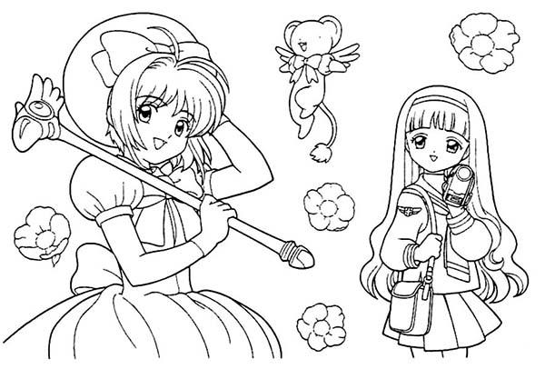 600x406 Kids Drawing Of Cardcaptor Sakura Coloring Page Coloring Sun
