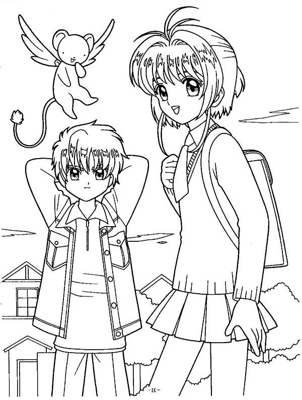 600x794 Nice Cardcaptor Sakura Coloring Pages Coloring Pages Kids