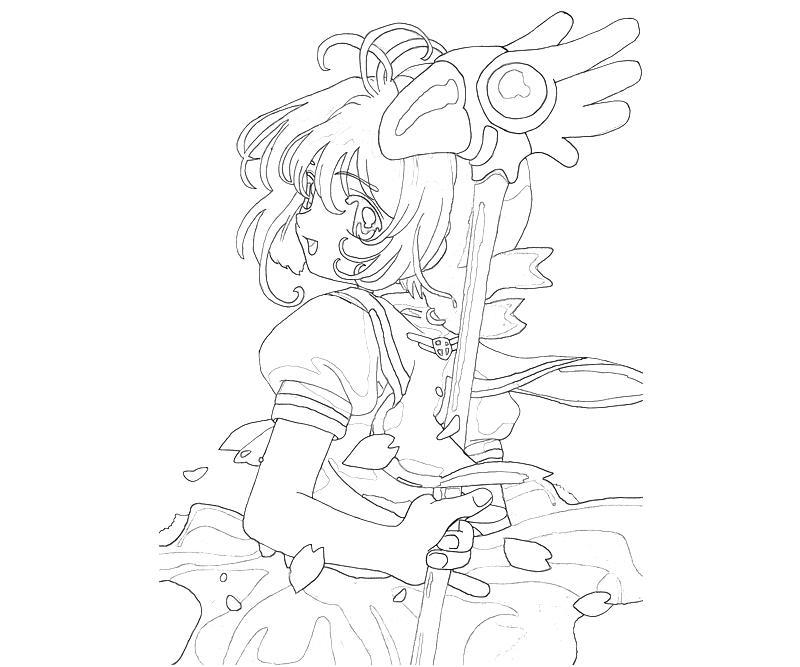 800x667 Sakura Card Captor Coloring Page