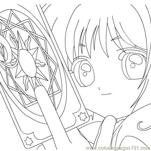 500x500 Sakura Card Captor Coloring Page