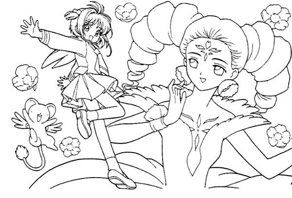 600x407 Sakura And The Beautiful Princess In Cardcaptor Sakura Coloring
