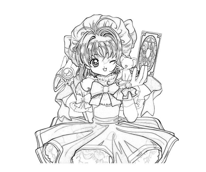 800x667 Free Cardcaptor Sakura Coloring Pages Cardcaptor Sakura Sakura