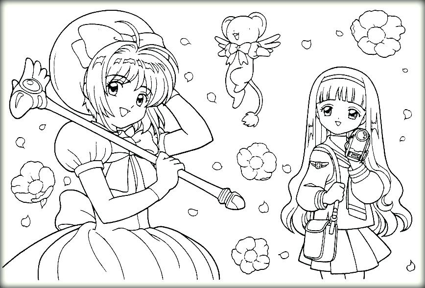 868x588 Cardcaptor Sakura Coloring Pages Coloring Pages Coloring Pictures