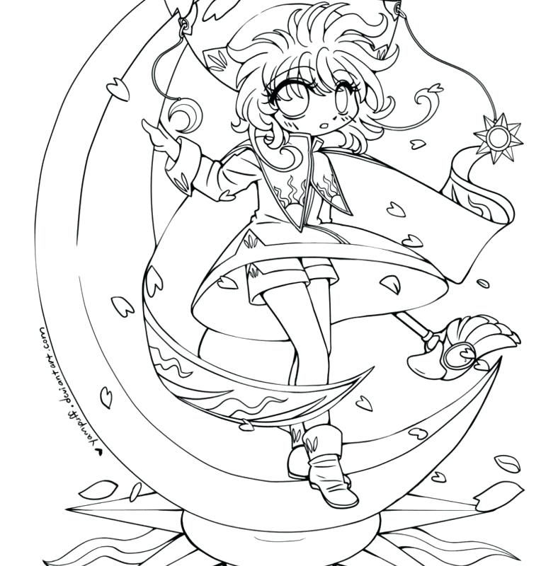 788x800 Cardcaptor Sakura Coloring Pages Open Coloring Sheets Free Pages