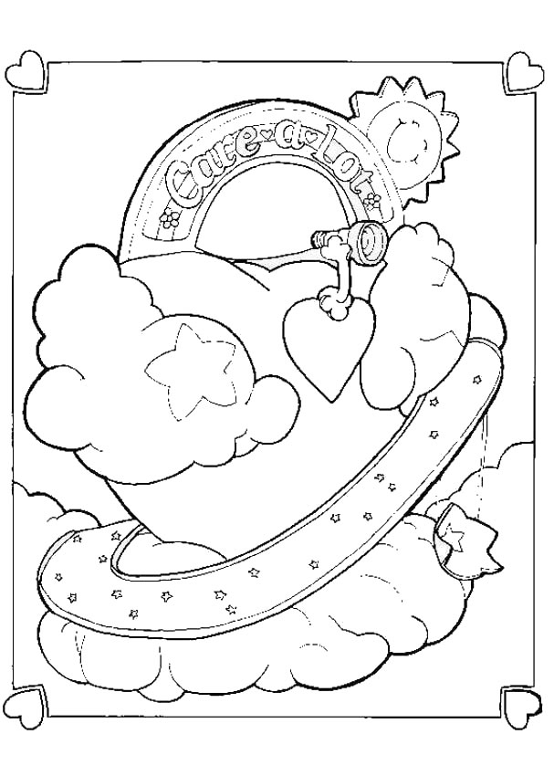 607x850 Care Bear Heart Coloring Pages