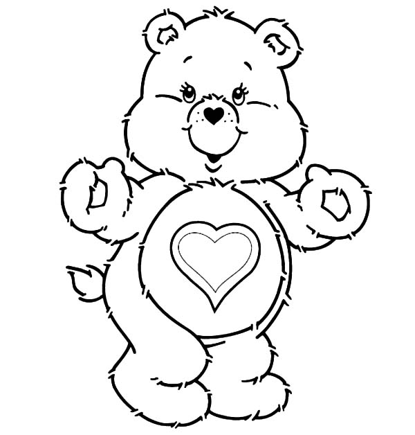 600x628 Funshine Care Bears Coloring Pages Best Place To Color
