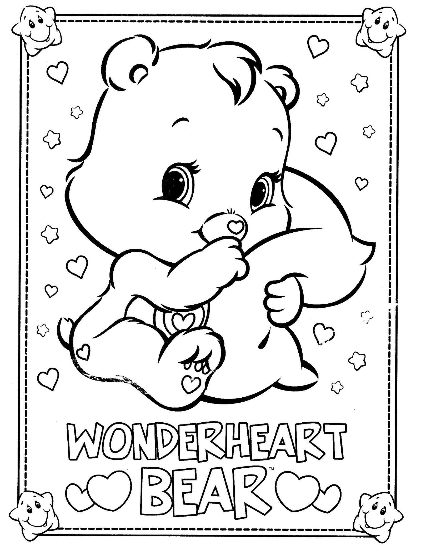 1600x2071 Wonderheart Bear From Care Bears Coloring Pages Movie And In Acpra