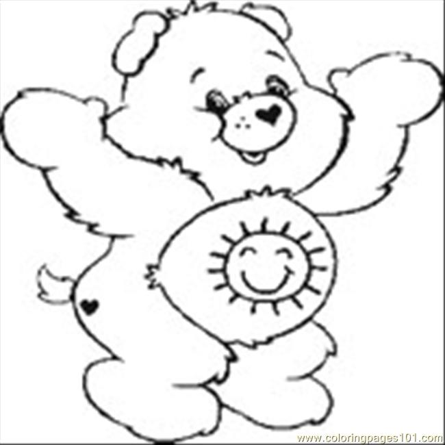 650x650 Care Bear Coloring Page