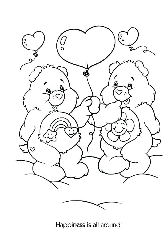 569x796 Care Bears Coloring Sheets Free