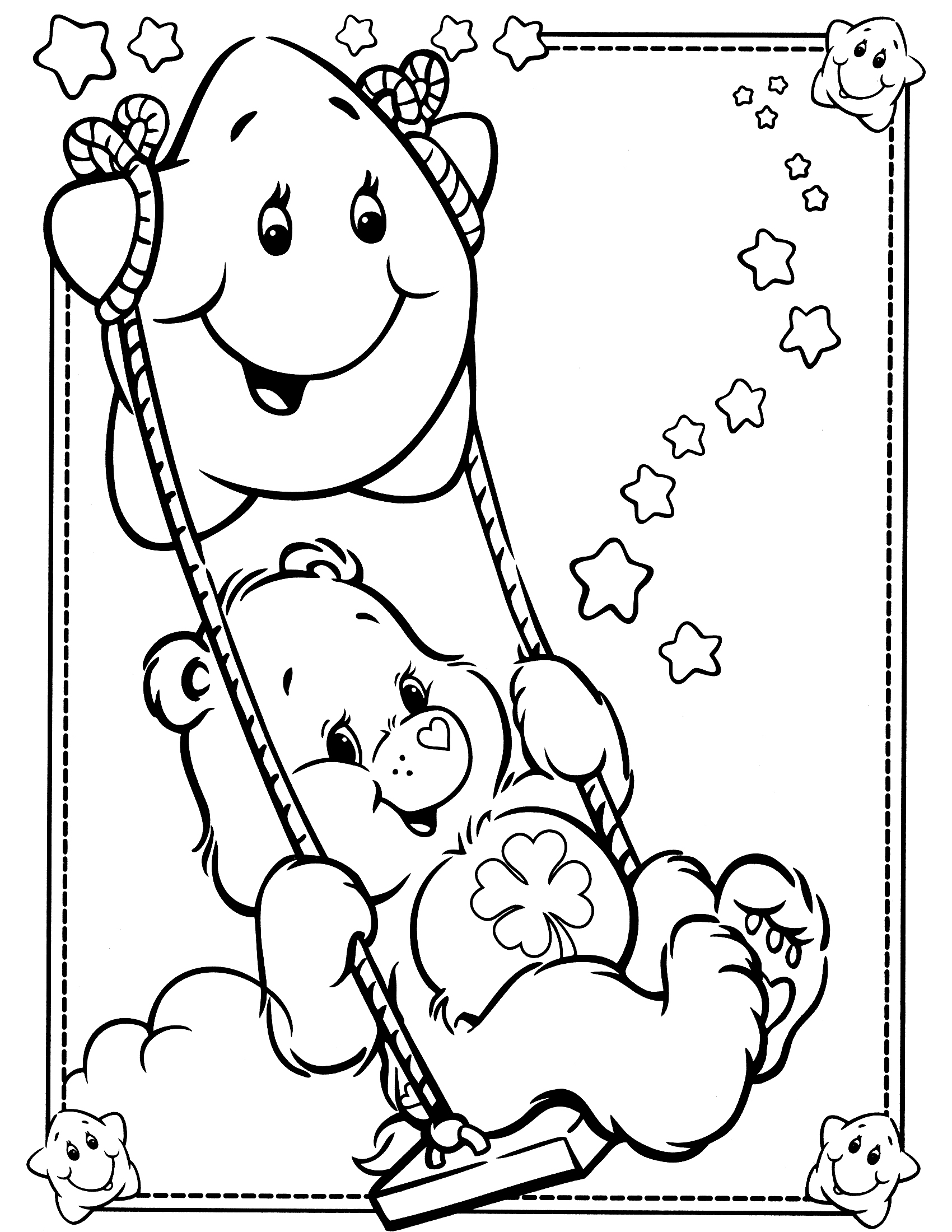 1700x2200 Care Bear Coloring Pages