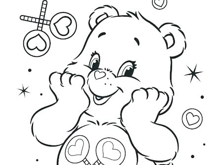 450x334 Care Bear Coloring Pages Care Bears Coloring Books Together