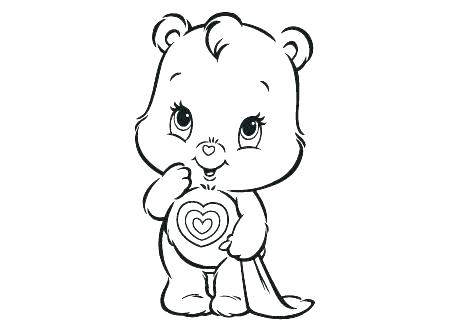 450x334 Care Bear Coloring Pages Coloring Pages Care Bear Colouring Pages
