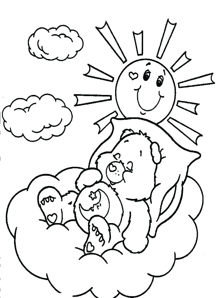 736x1014 Care Bear Coloring Pages Printable Sheets Grizzly Page To Print