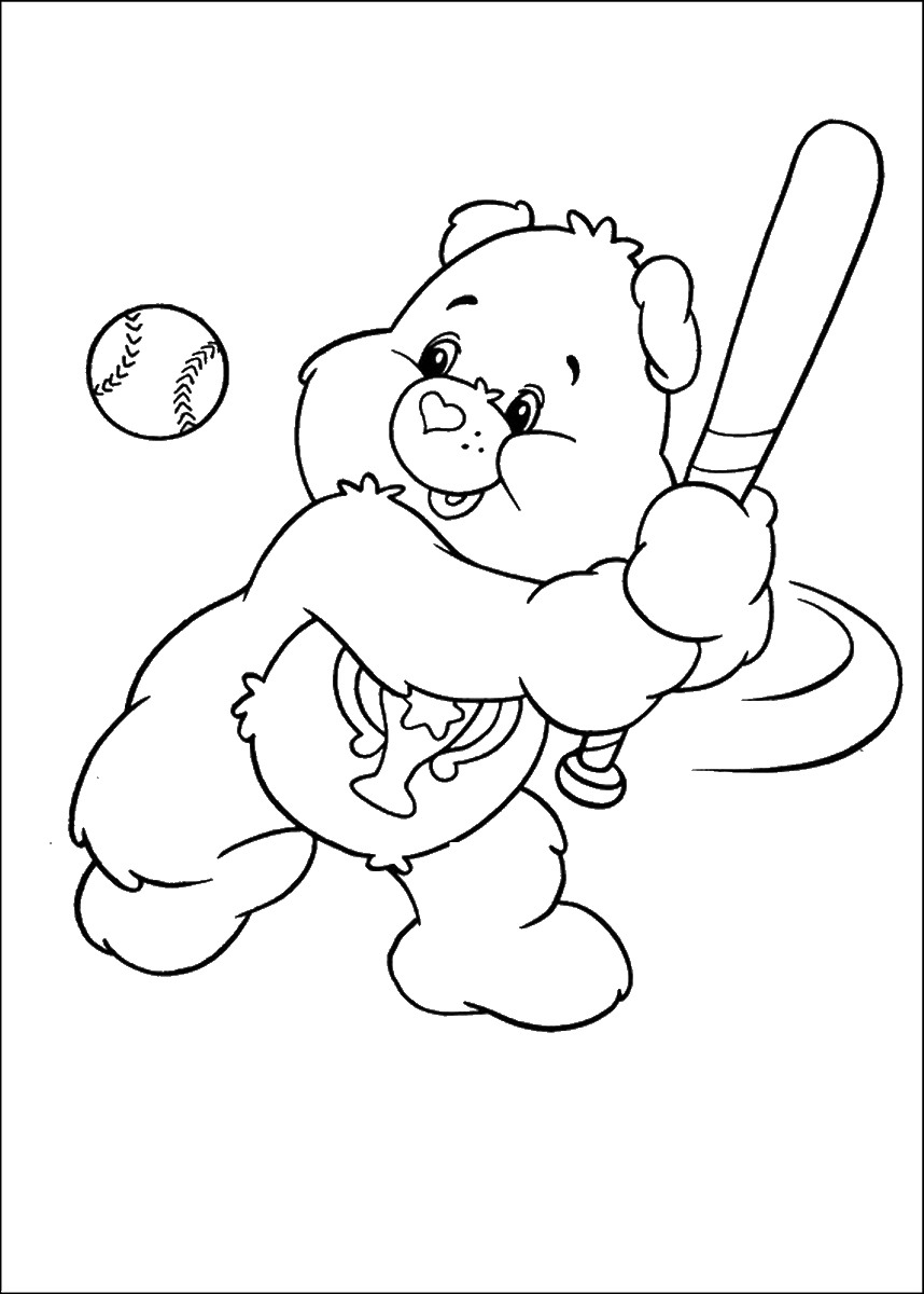 858x1200 Care Bears Coloring Pages