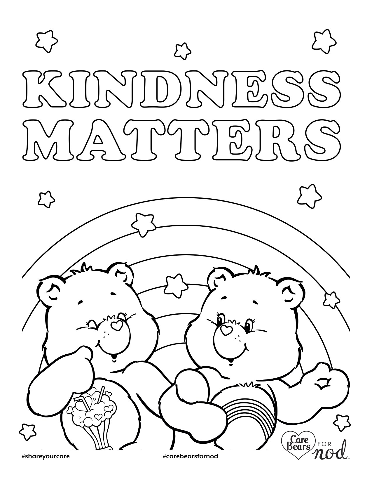 1275x1650 Care Bears Printable Coloring Pages Newyork