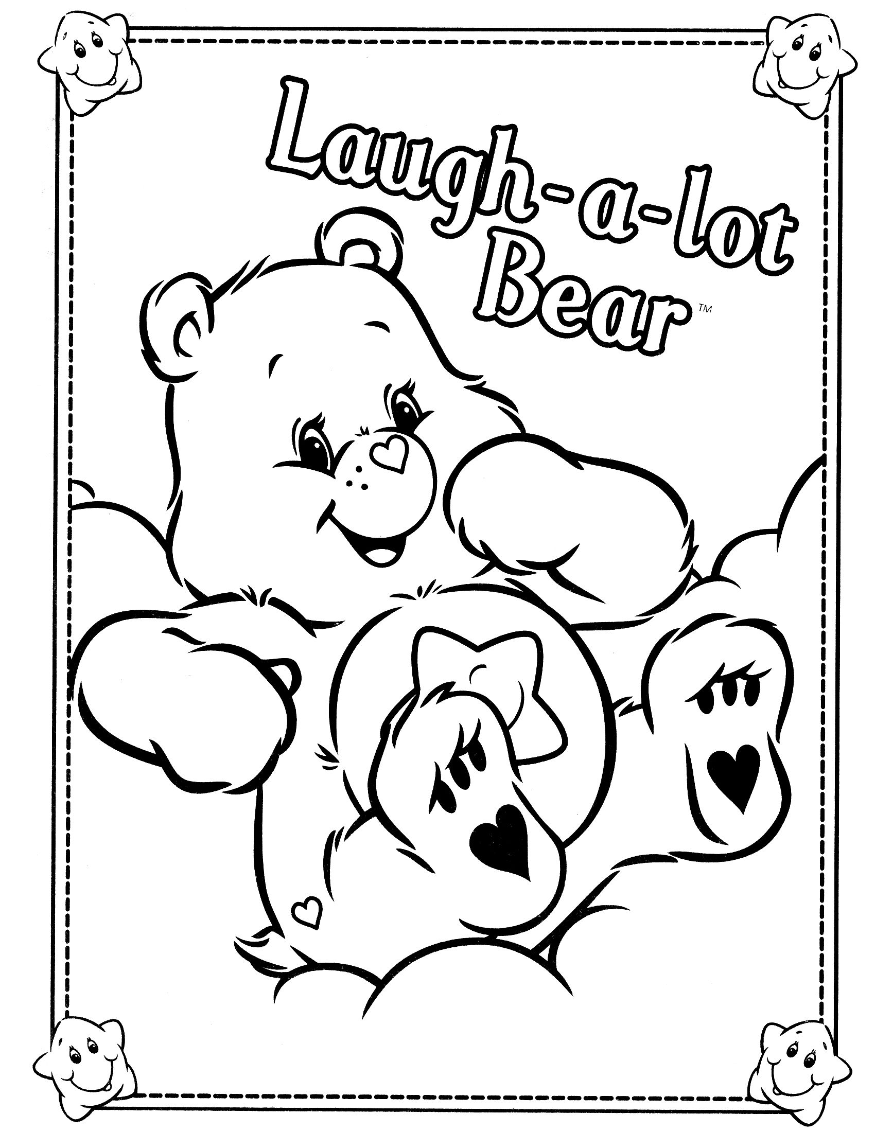1700x2200 Care Bears Printable Coloring Pages Nemesys