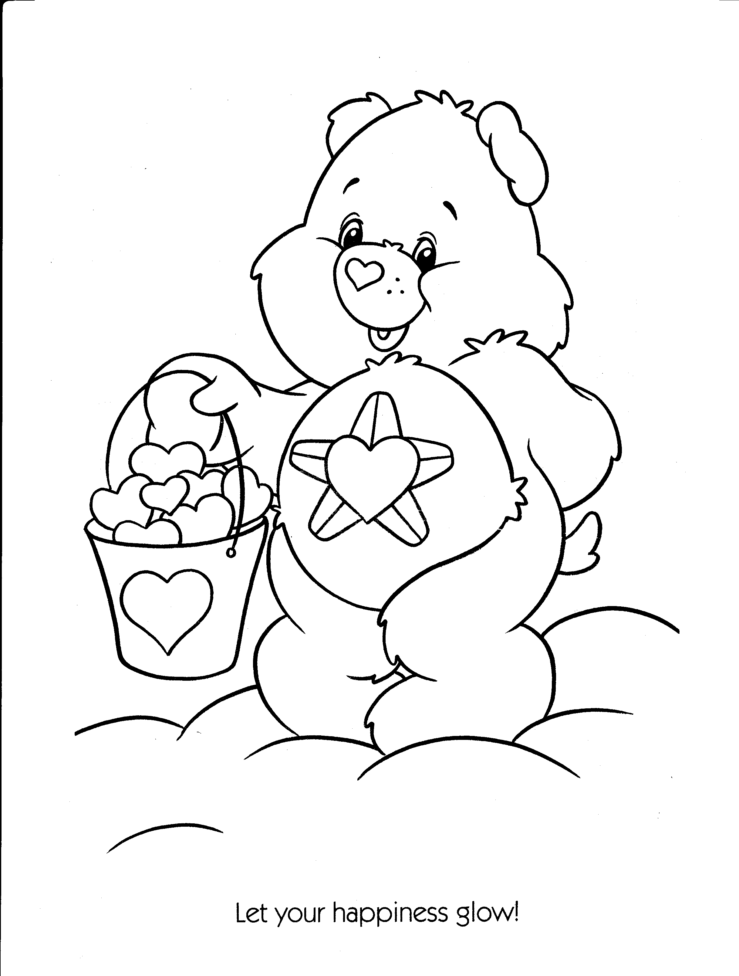 2436x3216 Care Bears Printable Coloring Pages For Kids