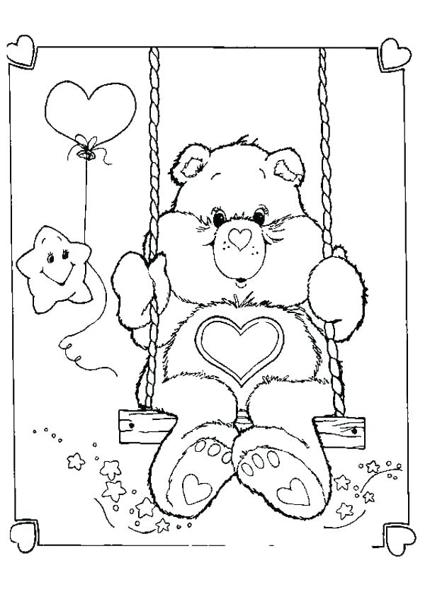 607x850 Awesome Care Bear Coloring Pages And Care Bears Coloring Pages