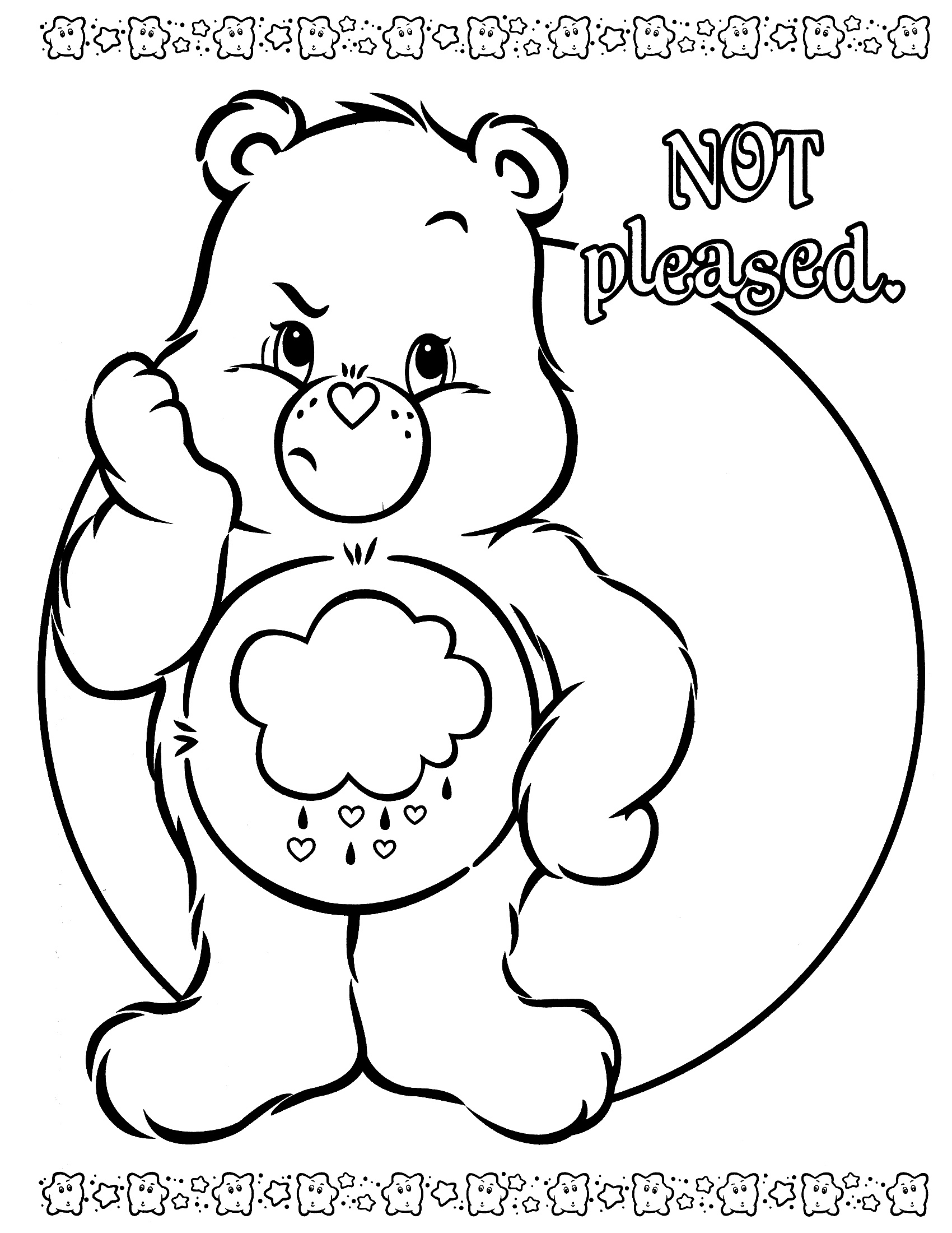 1700x2200 Inspirational Care Bears Printable Coloring Pages Printable