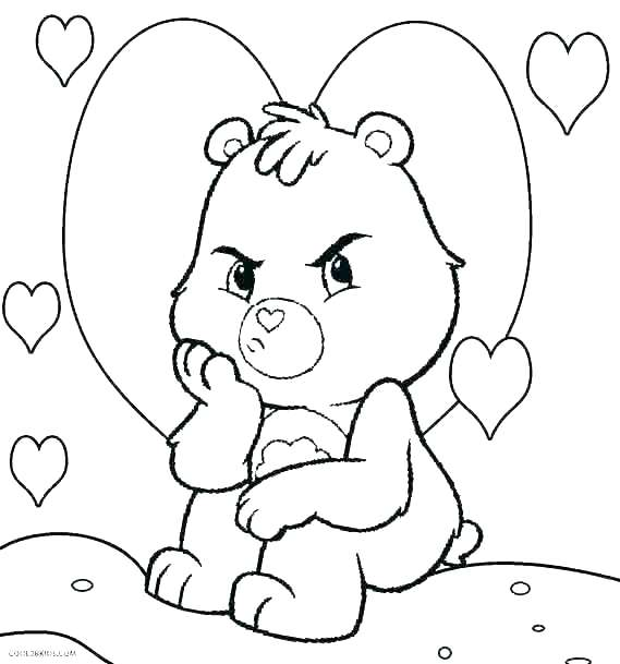 569x609 Coloring Page Bear