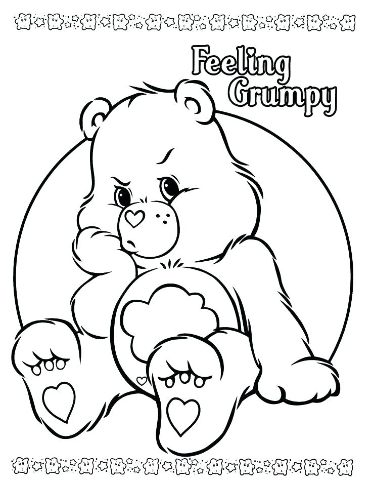 736x952 Bears Coloring Pages Free Printable Care Bear Coloring Pages