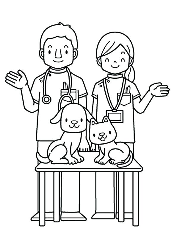 595x842 Career Day Coloring Pages Community Helpers Coloring Picture