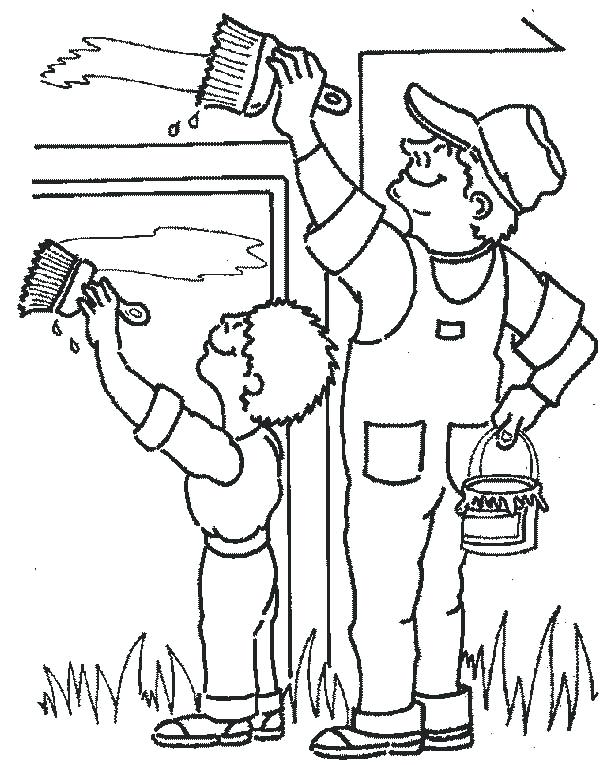 600x765 Free Coloring Pages Community Helpers Career Day Coloring Pages