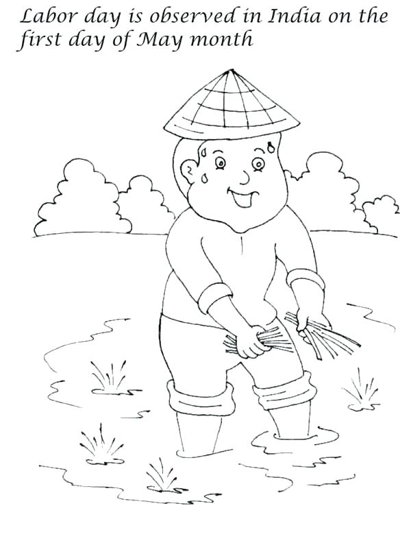 600x792 Labor Day Coloring Pages Career Day Coloring Pages Labor Day