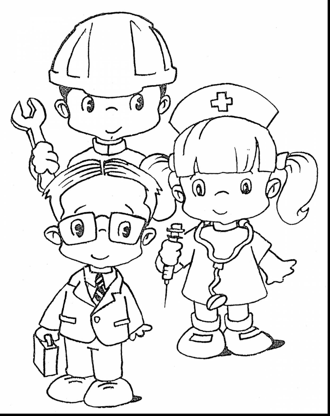 1397x1760 Top Career Day Coloring Pages