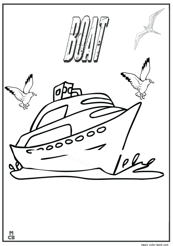 685x975 Coloring Pages Of Boats Boat Coloring Pages Cargo Barge Free