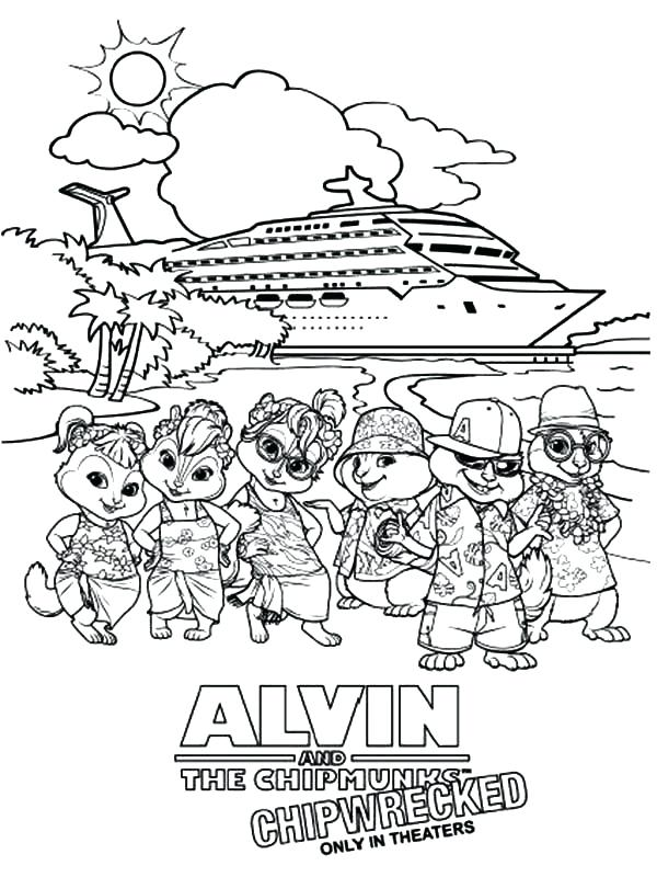 600x800 Disney Cruise Coloring Pages And Chipmunk Taking Picture