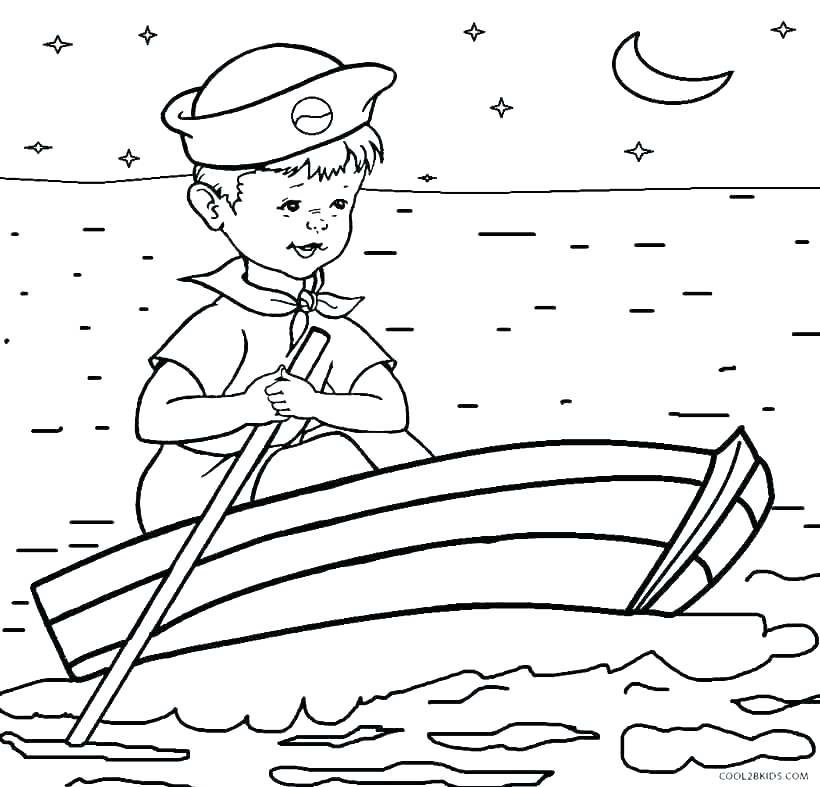 820x787 Printable Boat Coloring Pages For Kids Coloring Pages Of Boats