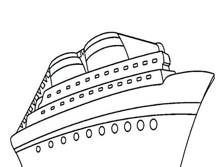 440x330 Ship Coloring Pages Cargo Ship Coloring Page For Kids Cruise Ship