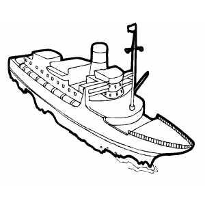300x300 Swimming Cargo Ship Coloring Sheet