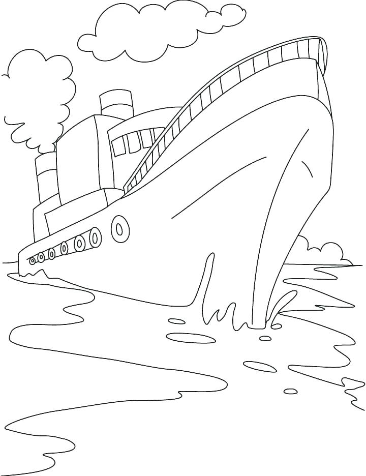 720x936 Cruise Ship Coloring Pages