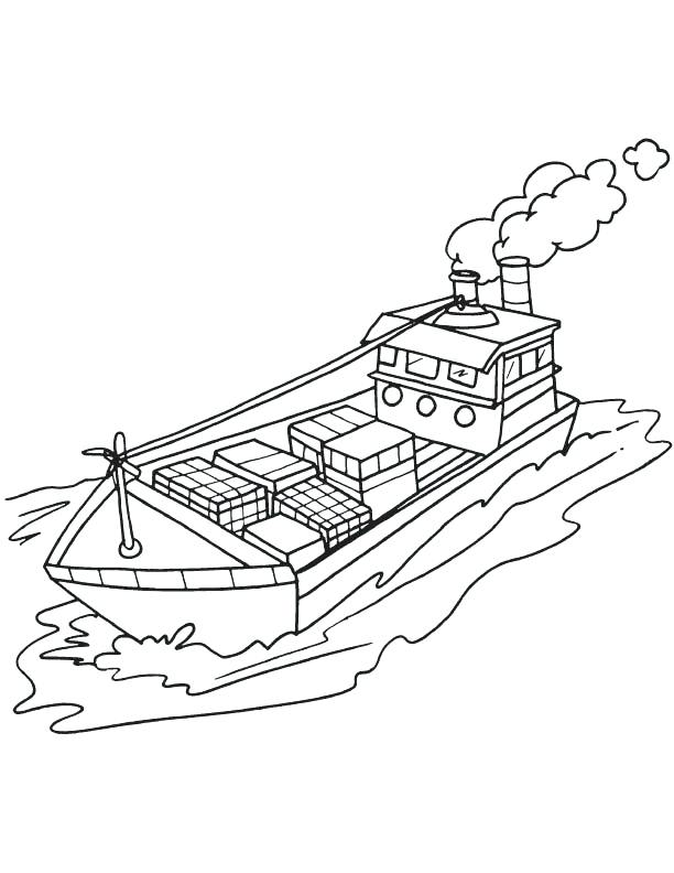 612x792 Ship Coloring Pages