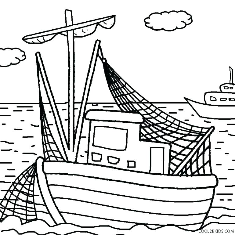 770x770 Boat Coloring Page Boat Coloring Page Boats Coloring Pages