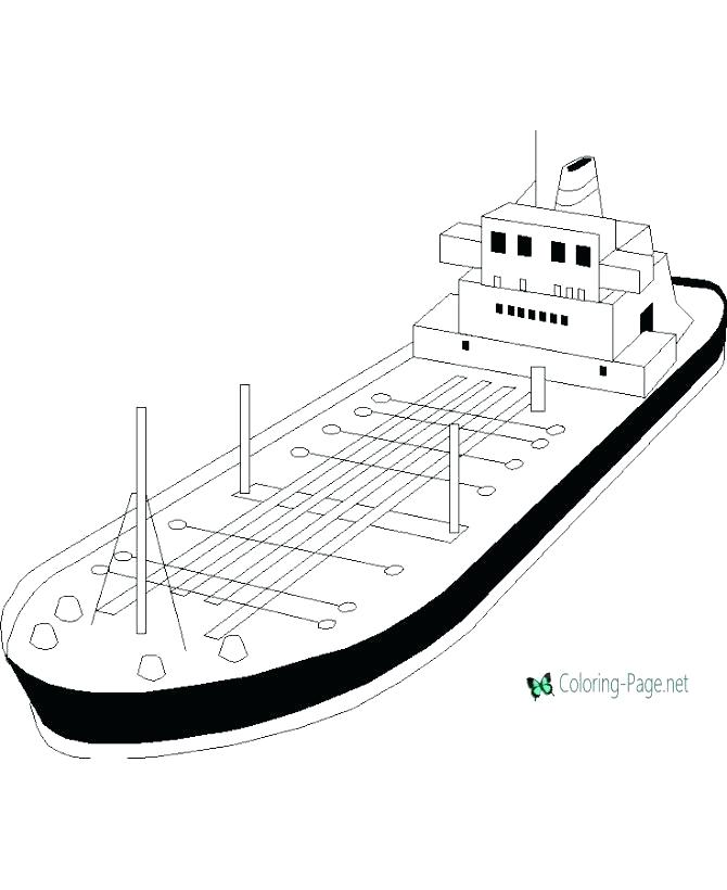 670x820 Boat Coloring Pages Boat Coloring Page Cargo Ship Coloring Pages