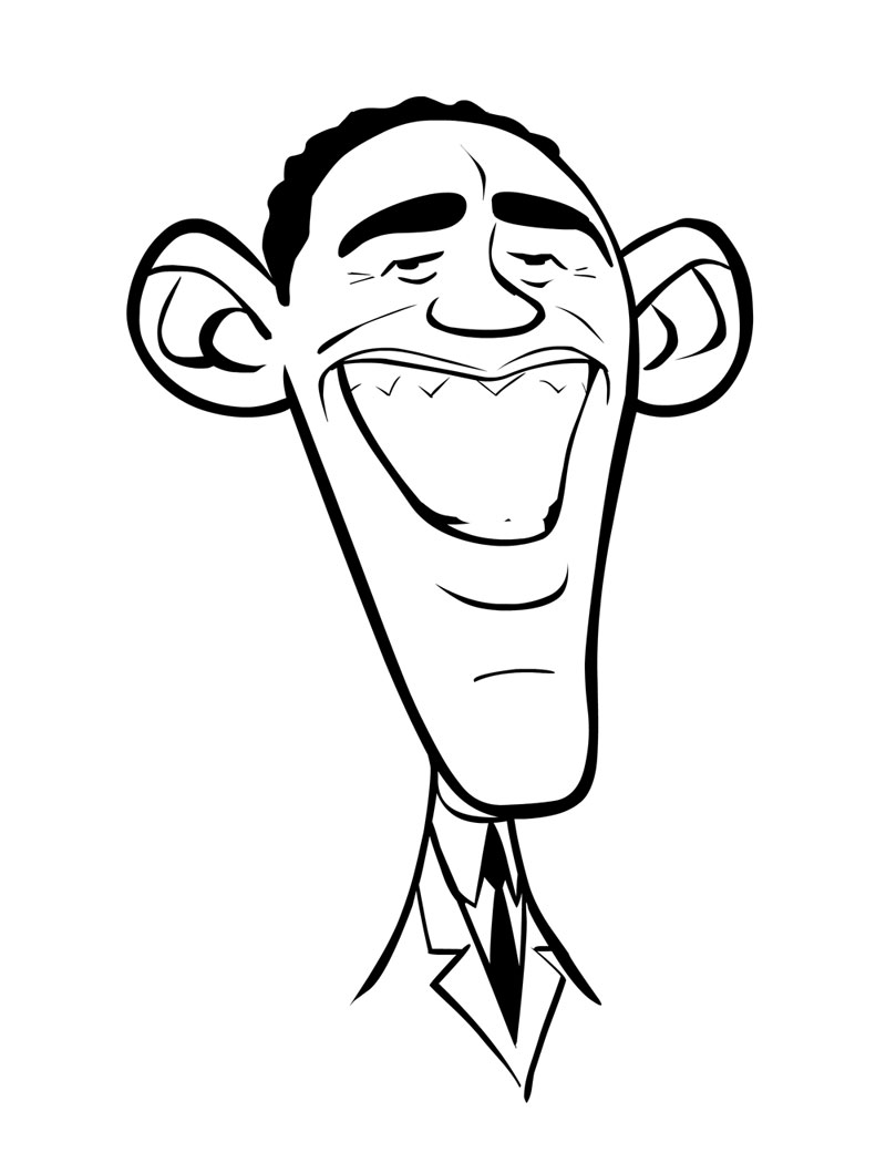 800x1050 barack obama coloring page