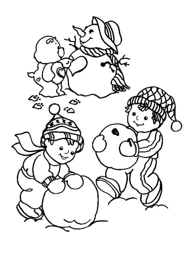 607x850 Care Bears Coloring Pages