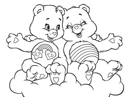 450x334 Care Bears Coloring Page! Care Bears Games Activities