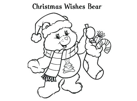 450x334 Christmas Care Bear Coloring Pages