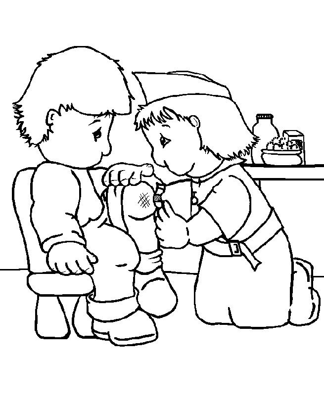 655x815 A Nurse Who Was Caring For Coloring Pages