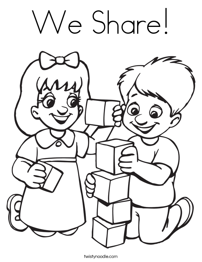 685x886 We Share Coloring Page